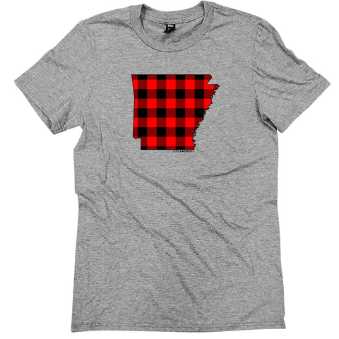 Arkansas Buffalo Plaid Tee