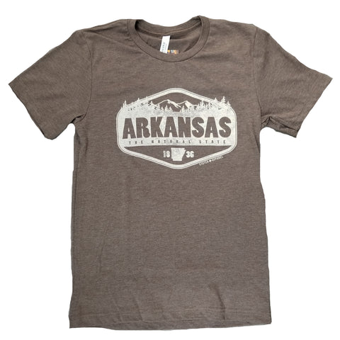 Arkansas The Natural State Brown T-Shirt