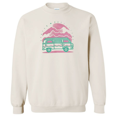 Stated Outfitters Cream Van Sweastshirt