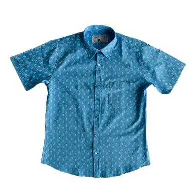 Rock Monkey blue button down