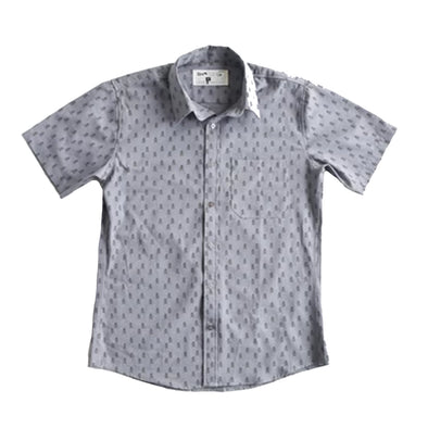 Rock Monkey Grey button down