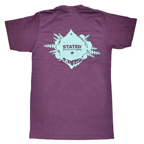 Stated Outfitters Outdoor Heather Maroon Tee