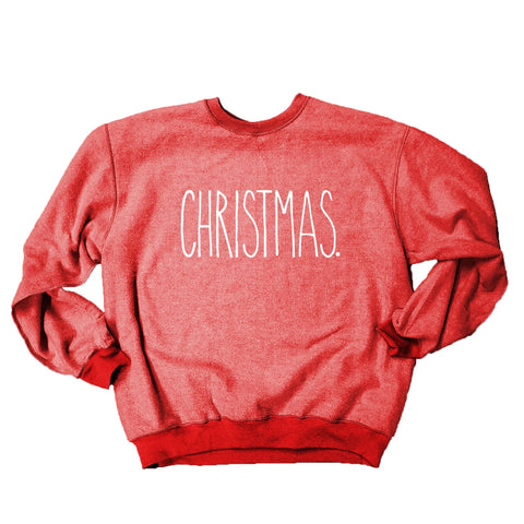 Christmas. Inverted Sweatshirt