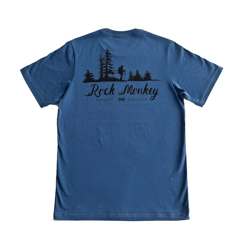 Rock Monkey Hiking Navy T-Shirt