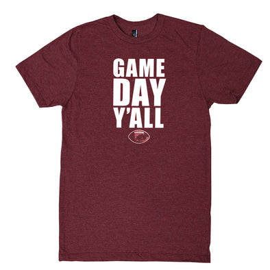 Gameday Y'all Maroon/White T-Shirt