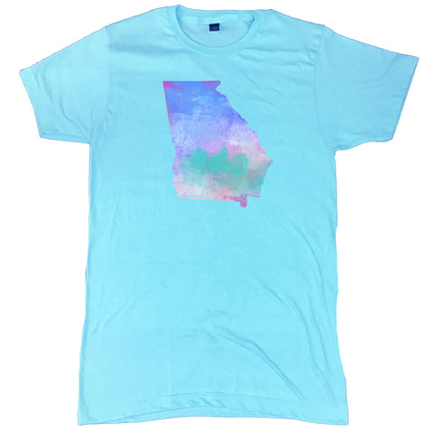 Georgia State Water Color T-Shirt