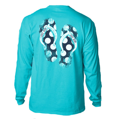 Lake Bum Flip-Flops LS T-Shirt
