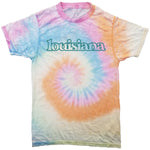 Louisiana Pastel Tie-Dye T-Shirt