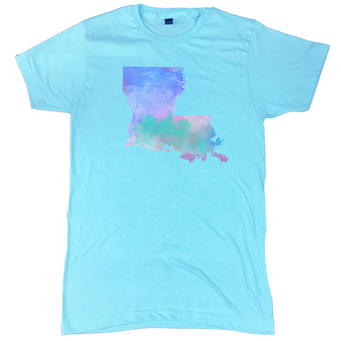 Louisiana State Water Color T-Shirt