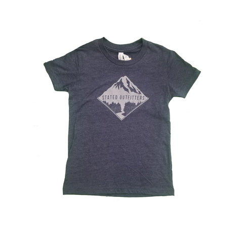 Stated Outfitters Youth Charcoal/ Grey Mountain Tee