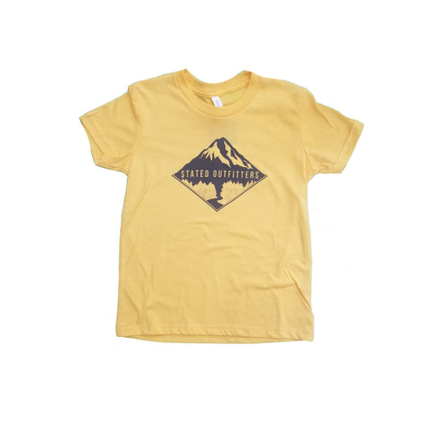 Stated Outfitters Youth Yellow/ Black Mountain Tee