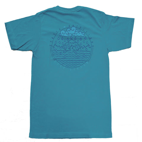 Stated Outfitters Teal/ Navy and Lt. Blue Rain Tee