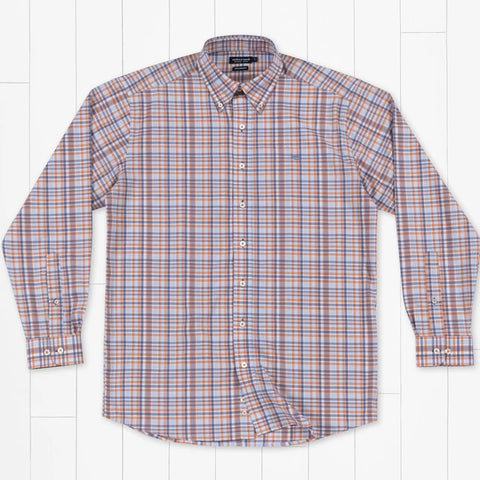 Southern Marsh Performance Plaid LS Purple/Red