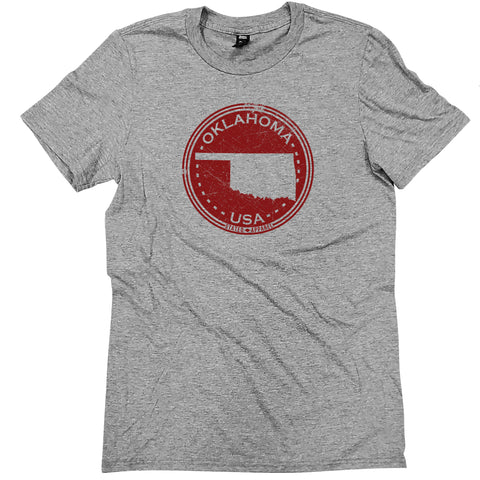 Oklahoma Distressed Seal Tee