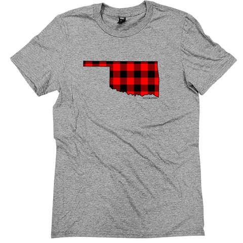Oklahoma Buffalo Plaid Tee