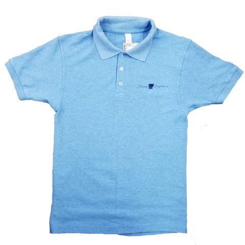 Stated Apparel pocket Linear logo Blue Polo