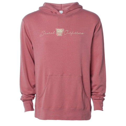 Stated Outfitters Dark Pink Hoodie