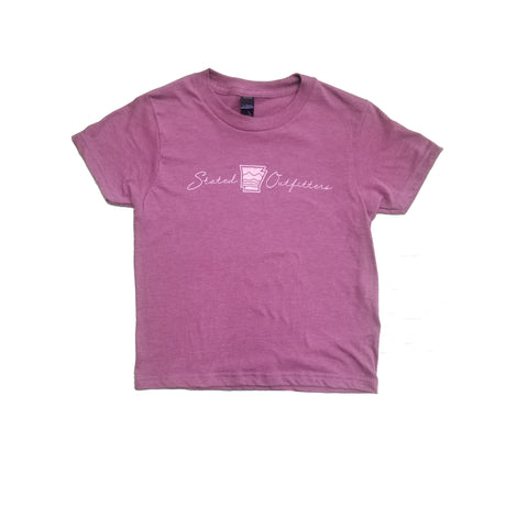 Stated Outfitters Youth Purple/ Cream Tee