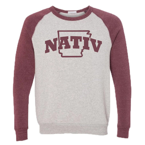Nativ gray/maroon Sweatshirt