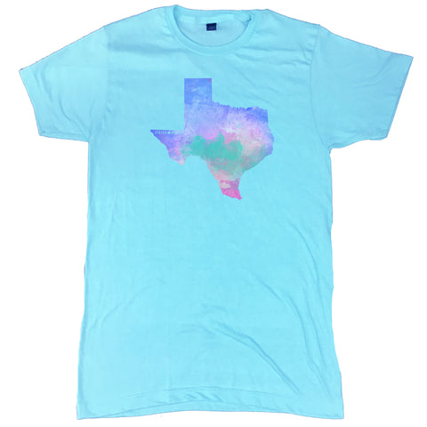 Texas State Water Color T-Shirt