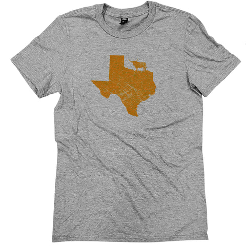 Texas Walking Mascot T-Shirt