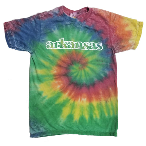 Arkansas Rainbow Tie-Dye T-Shirt