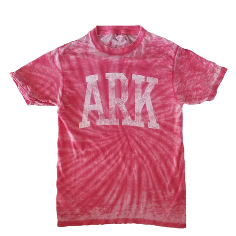 Arkansas Red Tie-Dye T-Shirt