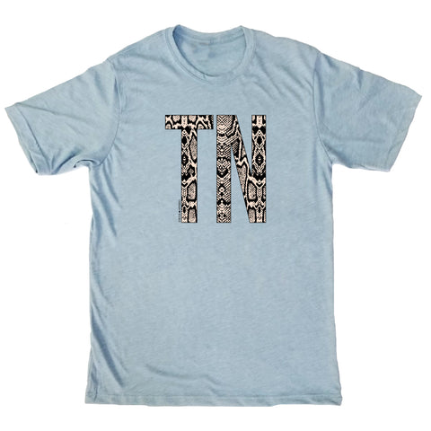 Snakeskin Tennessee Initial T-Shirt