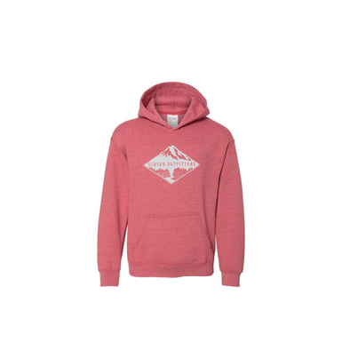 Stated Outfitters Youth Pink/White Mountain Hoodie