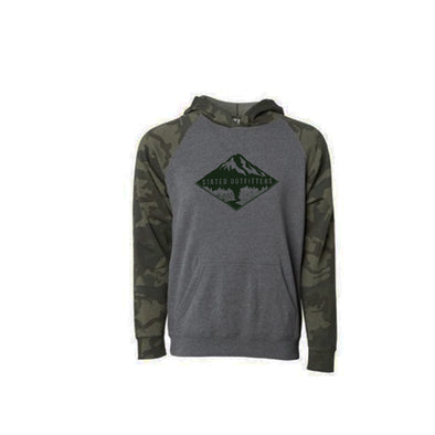Stated Outfitters Youth Camo and Grey mountain Hoodie