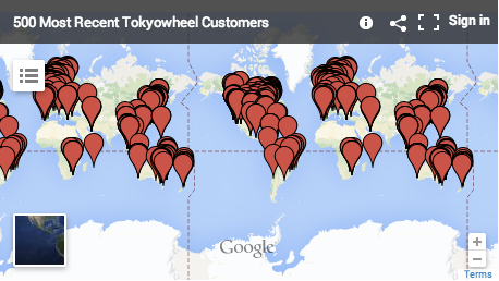 Tokyowheel Customer Map