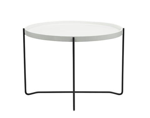 Dar 001KIN001 Kingston Side Table Round Gloss White