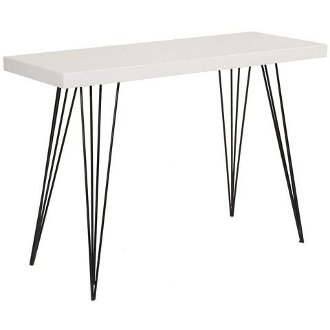 Dar 001LEL001 Leland Console Table Gloss White Top 100cm