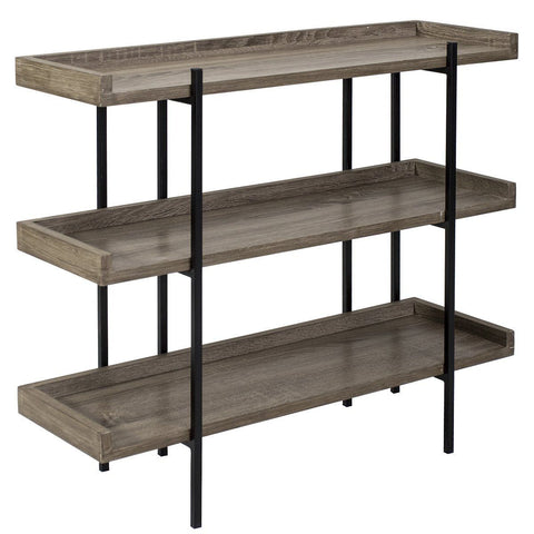 Dar 001LUN001 Lundberg Three Shelf Unit Oak Style Veneer 80cm