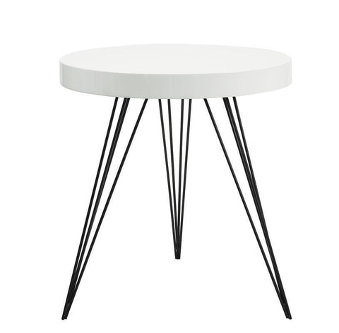 Dar 001SIB001 Sibford Side Table Round Gloss White