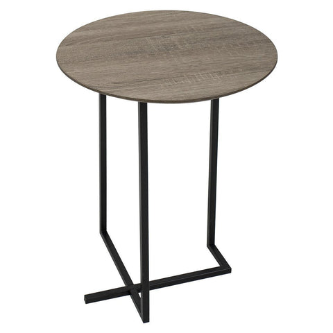 Dar 001TAM001 Tamworth Side Table Round Oak Style Veneer Top 40cm