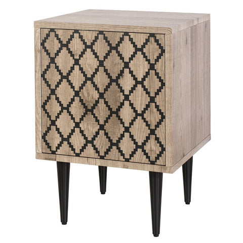 Dar 001VLA001 Vladimir Side Cupboard With Diamond Motif Print Door