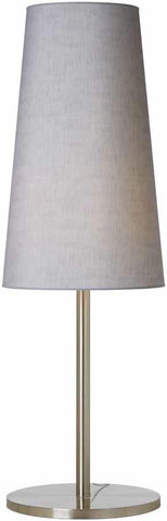 Big Floor Lamp in Brushed Chrome With A Cone shape Shade Available in 9 Colours
