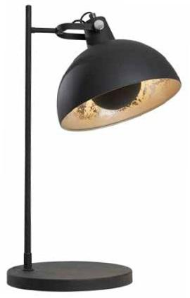 Cool Black Table Lamp With Silver Leaf Interior