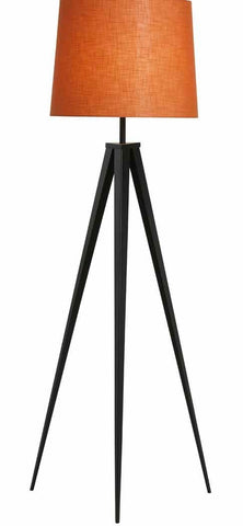 Eiffel Black Tripod Floor Lamp With A tapered Round Shade Available in 18 Colours