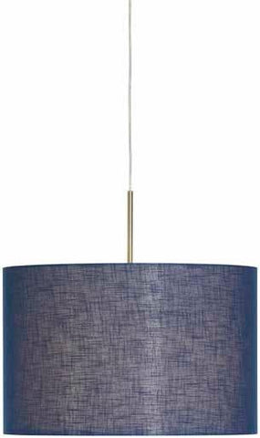 Trix 50 Pendant In Brushed Chrome  Finish With A Circular Shade