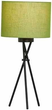 Trix Table Lamp In Black Finish With A Circular Shade