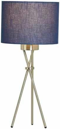 Trix Table Lamp In Satin Chrome Finish With A Circular Shade