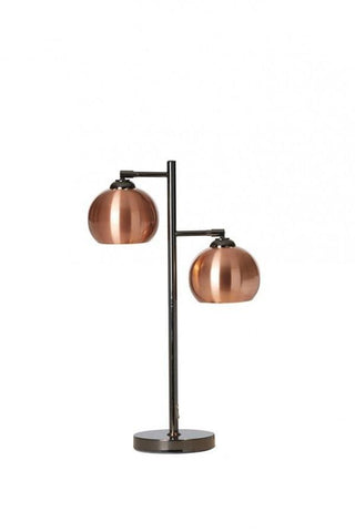 Ball 2 Table Lamp In Black Chrome With Metal Shades In 4 Finishes
