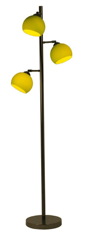 Ball 3lt Floor Lamp In Black Chrome With Coloured Glass Shades In 7 Finishes-Danalight-DC Lighting Ltd