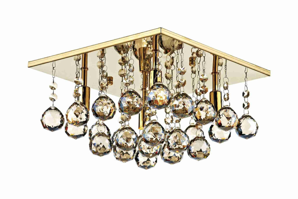 Dar ABA5240 ABACUS 300mm G9 Square Flush Gold-DC Lighting Ltd