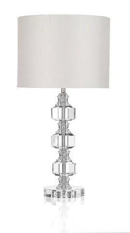Dar ACT4208 ACTON 3 Piece Crystal Table Lamp With Shade