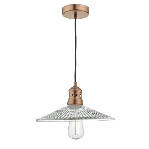 Dar ADE0164 Adeline 1lt Pendant Antique Copper