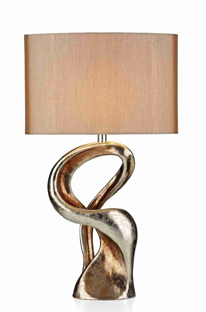 Dar ALC4335/X ALCHEMY Table Lamp Gold Resin With Shade ALC4335RS/X-DC Lighting Ltd