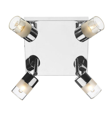 Dar ART8550 Artemis 4 Light Plate Polished Chrome IP44